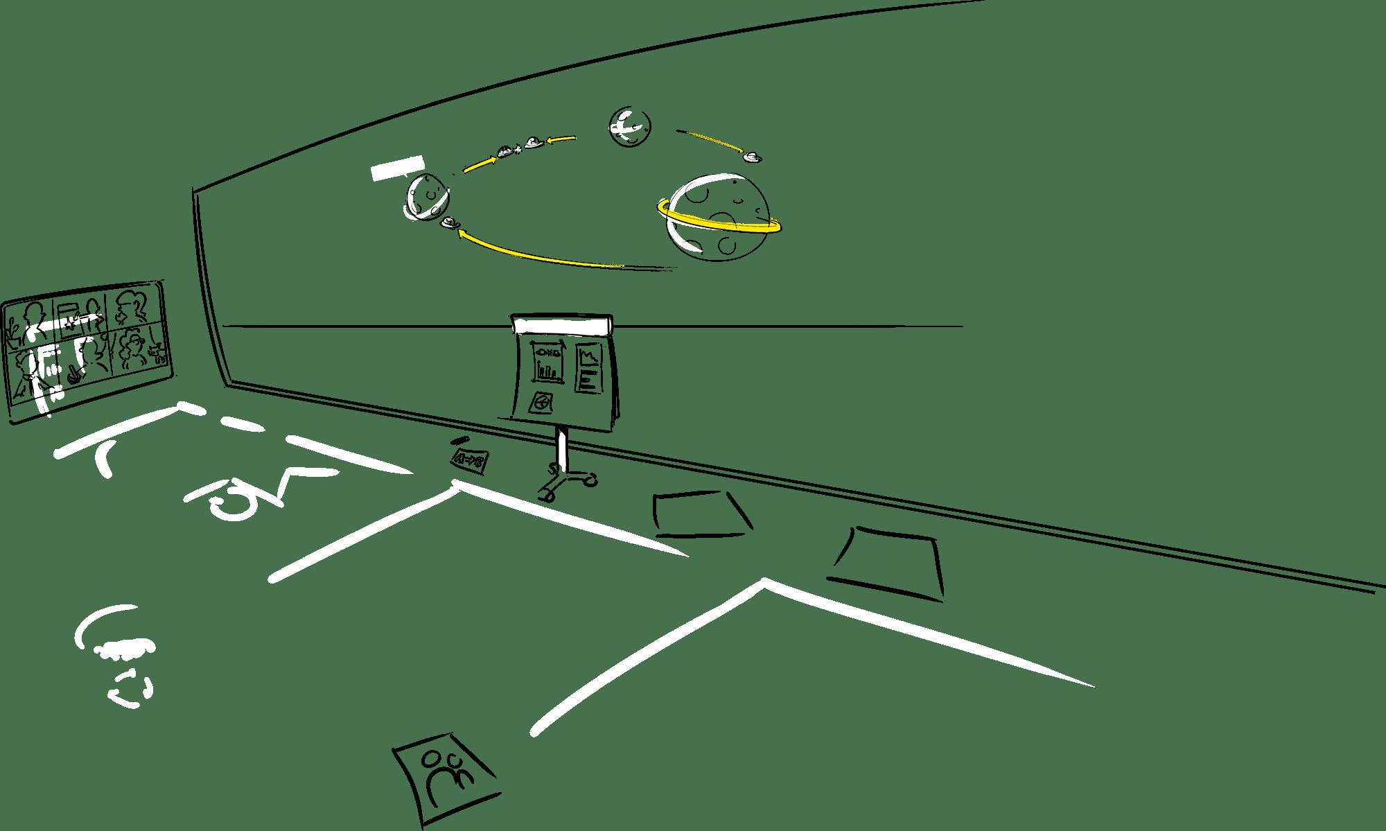 praatplaat ontwikkel proces kosten tekenaar inhuren bedrijfs proces zakelijk tekenen Den Haag visueel denken