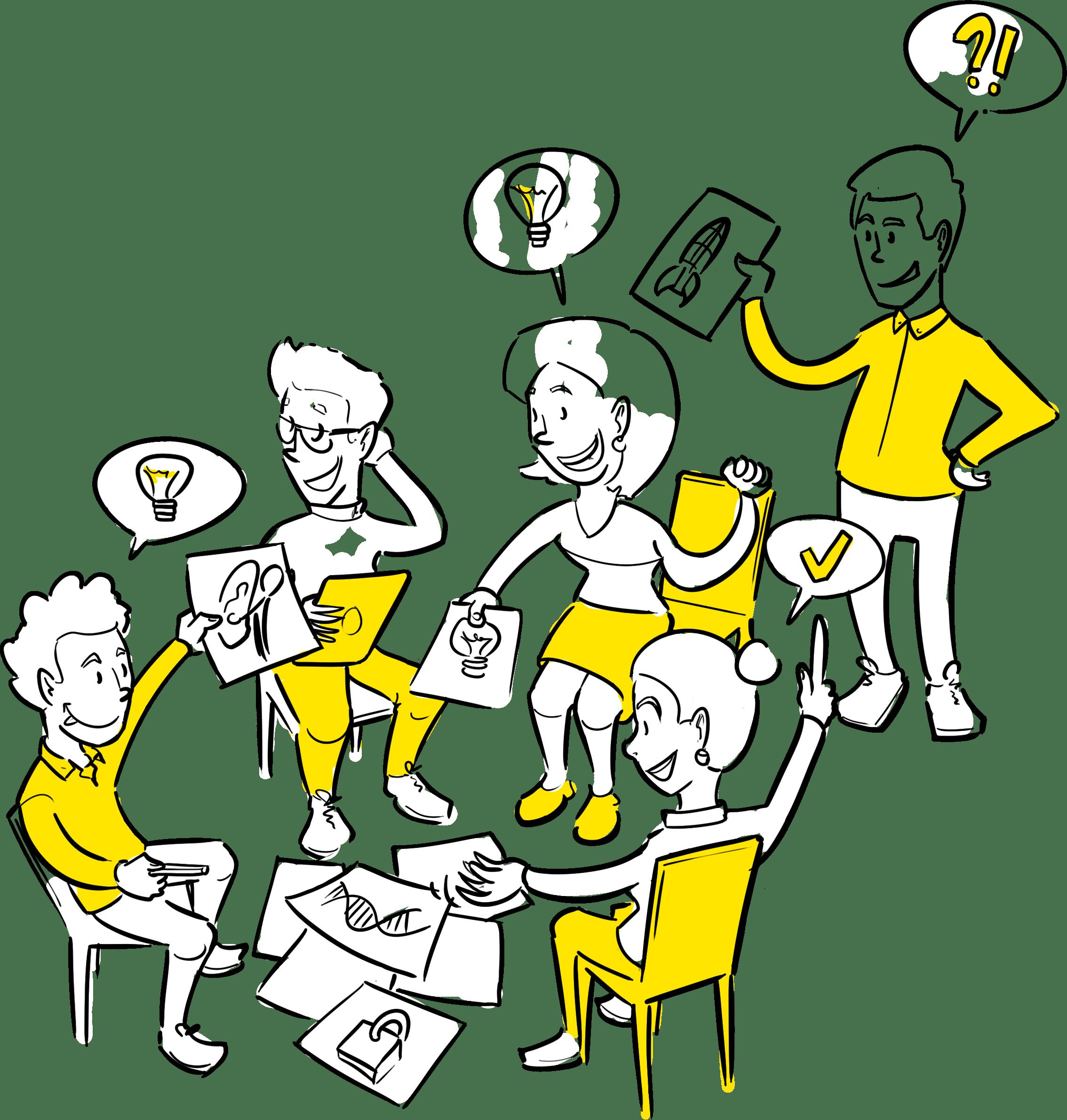 Visueel verbinden Den Haag sneltekenen brainstormen workshop  idee concept ontwikkeling