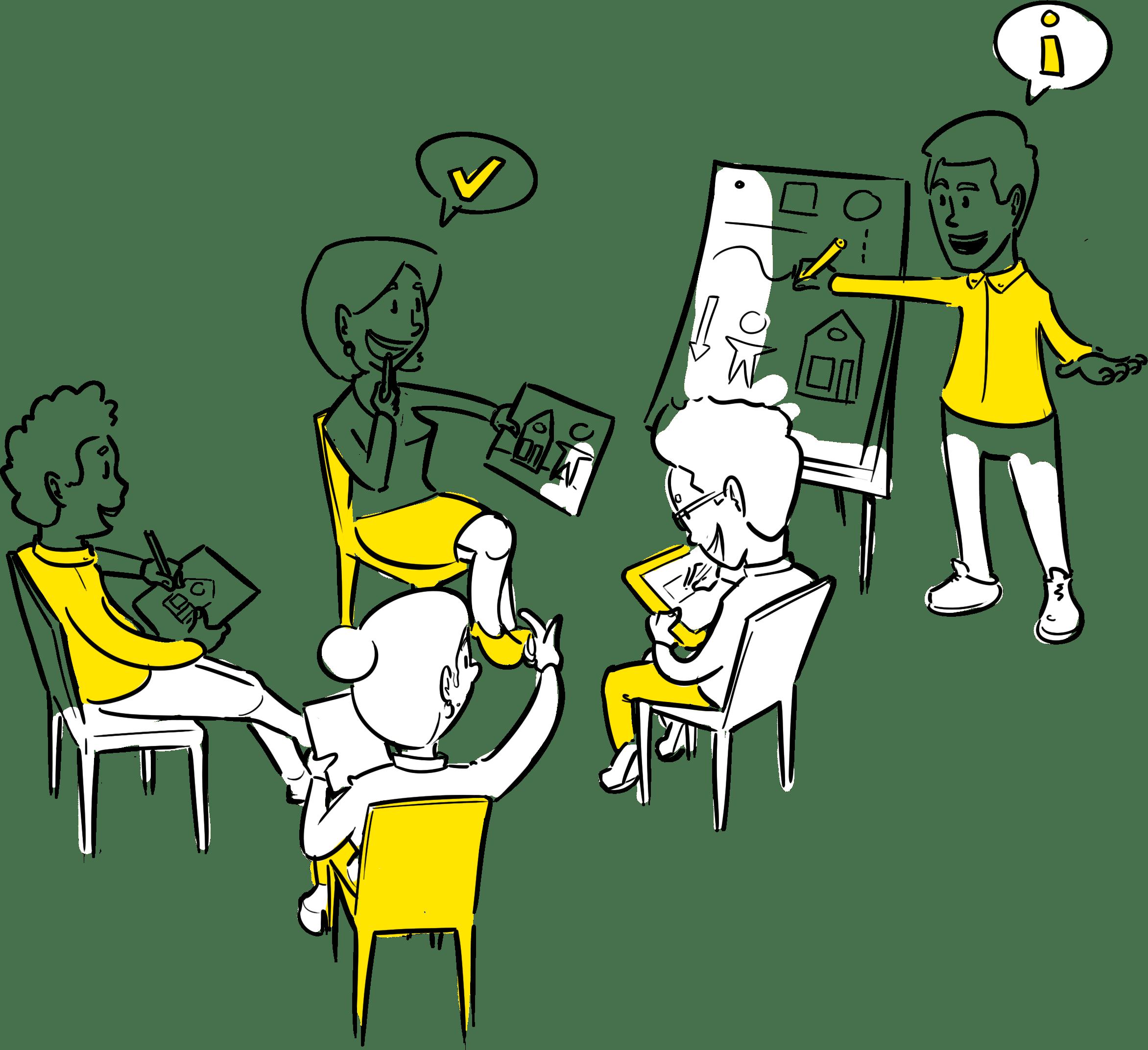 cursus zakelijk tekenen workshop met je team leren tekenen visual storytelling Den Haag visueel maken