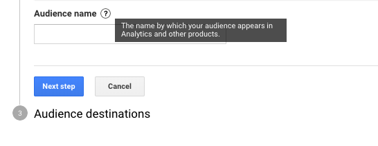 Google Analytics Create Audiences Set Name - WeDiscover, Paid Search Marketing Agency London