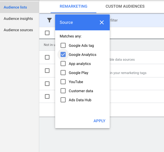 Google Ads Use Analytics Create Audiences - WeDiscover, Paid Search Marketing Agency London