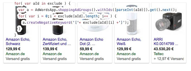 Automated Whitelist in Google Shopping with AdWords Scripts