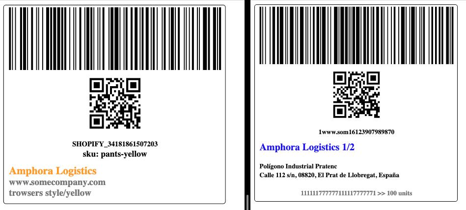 labels amphora