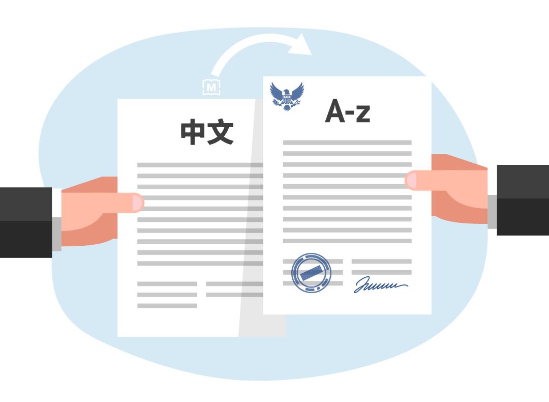 USCIS için tasdikli çeviri