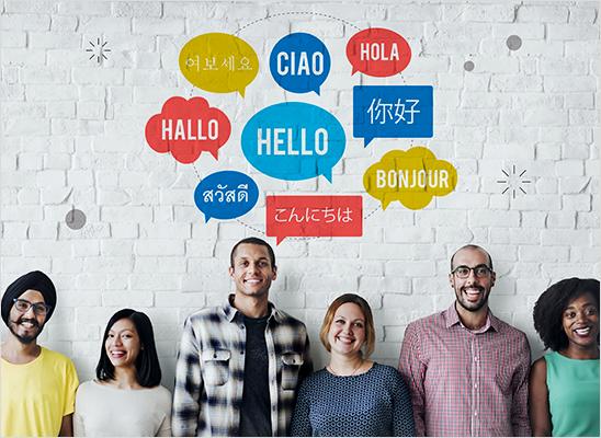 اللغات المتوفرة للترجمة المعتمدة