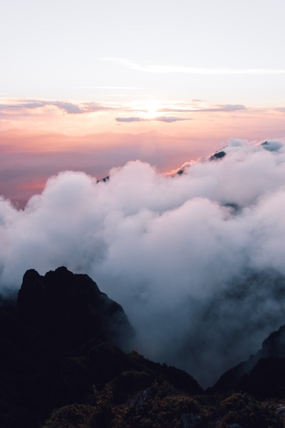 Sunrise in the clouds