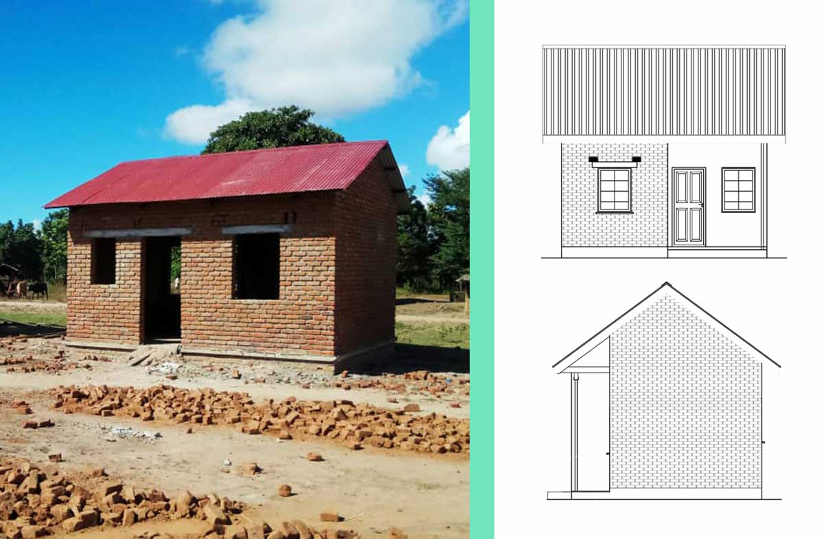 Houses UOWN are funding in Malawi