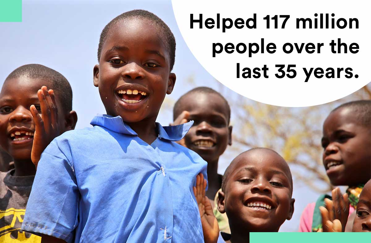 Islamic Relief has helped 117m people in 35 years.