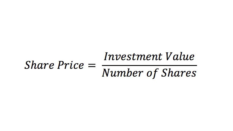Share Price = Investment Value / Number of Shares