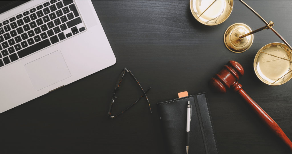 legal documents desk law computers glasses