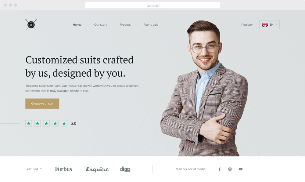 TailorArt - e-commerce