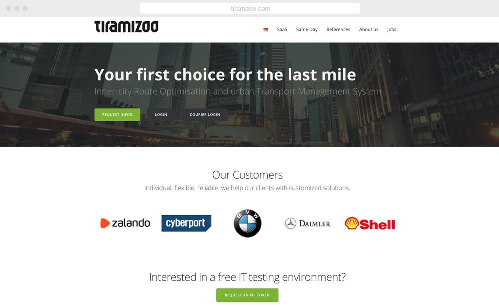 Tiramizoo - screen