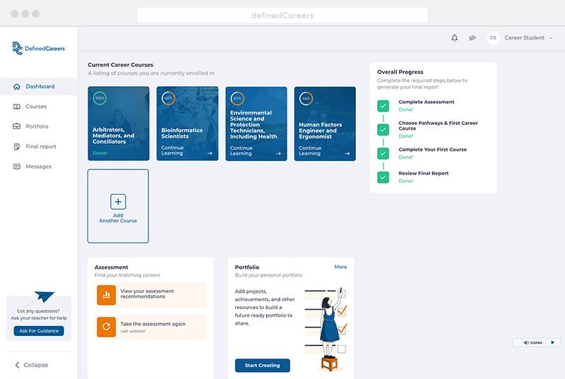 Defined Learning - educational web platform