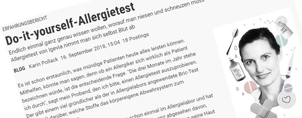 Do-it-yourself-Allergietest auf derstandard.at