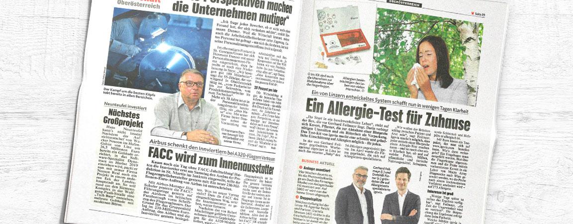 Kronen Zeitung: Ein Allergie-Test für Zuhause