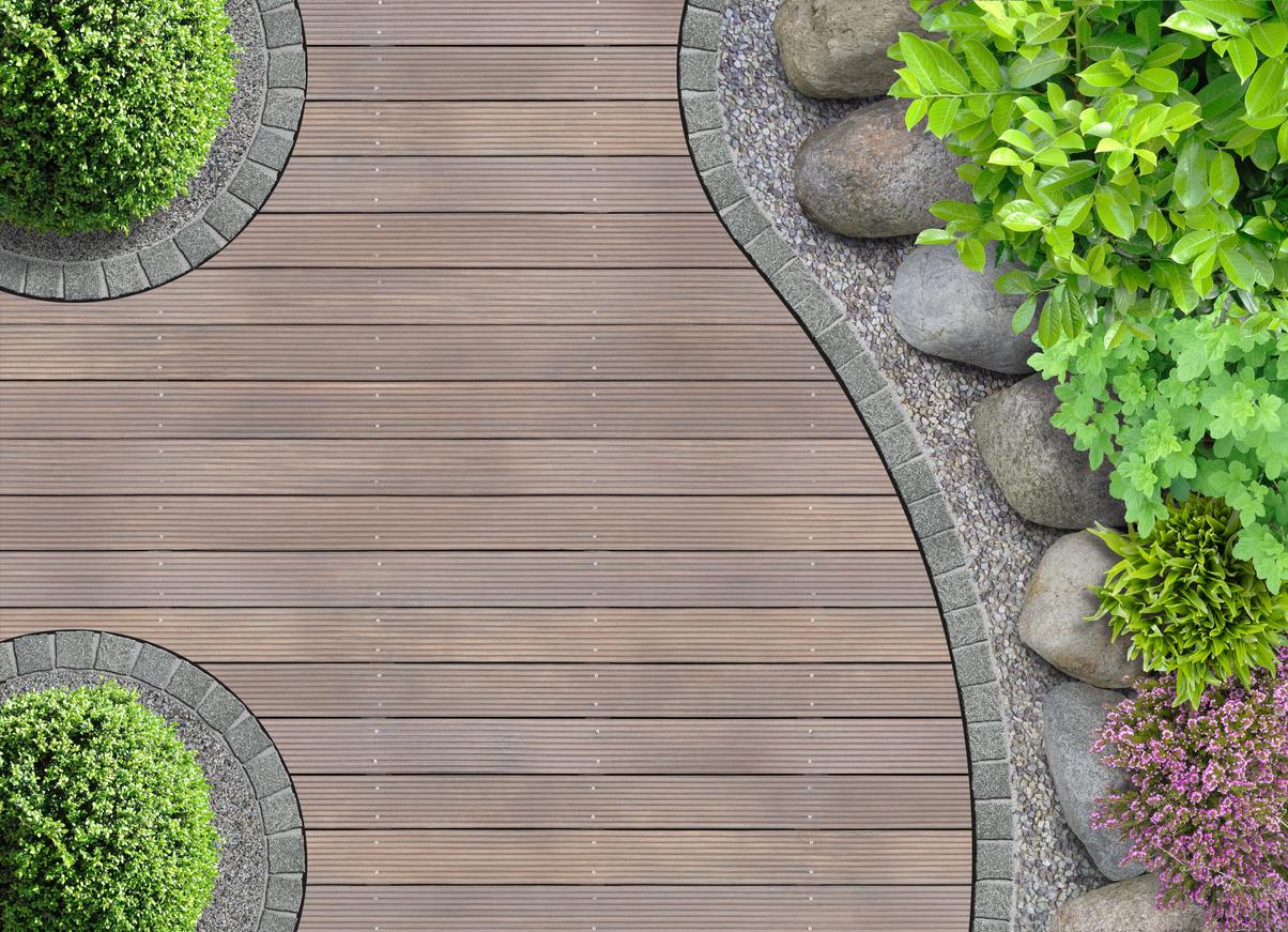 Ein Terrassenbelag aus WPC ist äußerst nachhaltig.