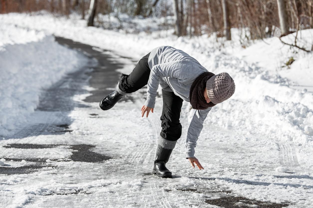 Schneeraeumpflicht: ausrutschen