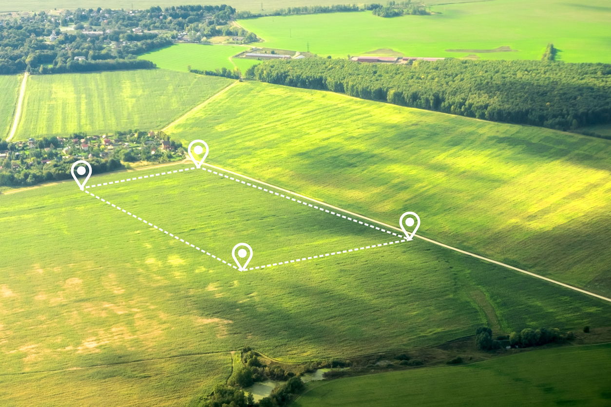 Gemarkung: Gemarkungsgrenzen und Flurstücke