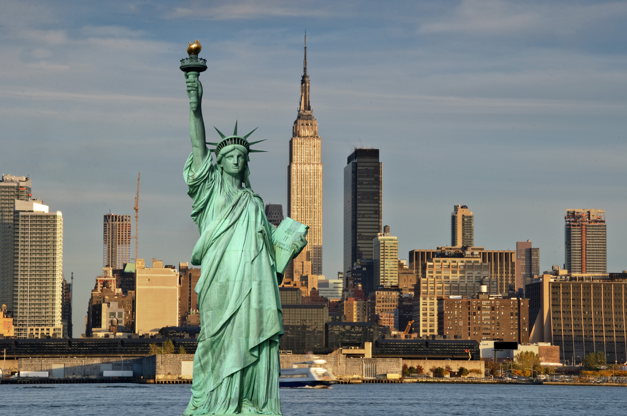 New York ist zu einem Symbol für Freiheit und Hoffnung geworden