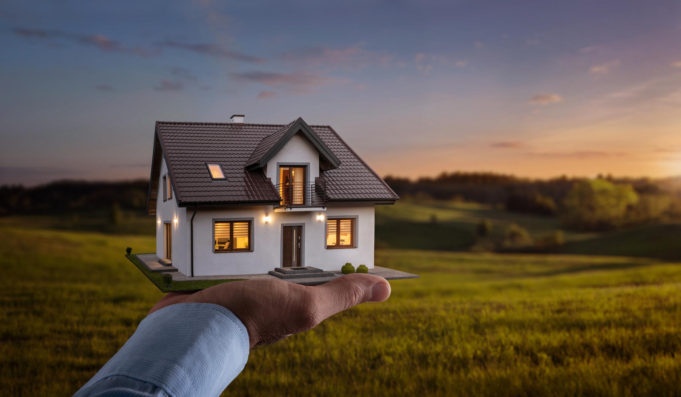 Grundstück verkaufen: Haus präsentieren