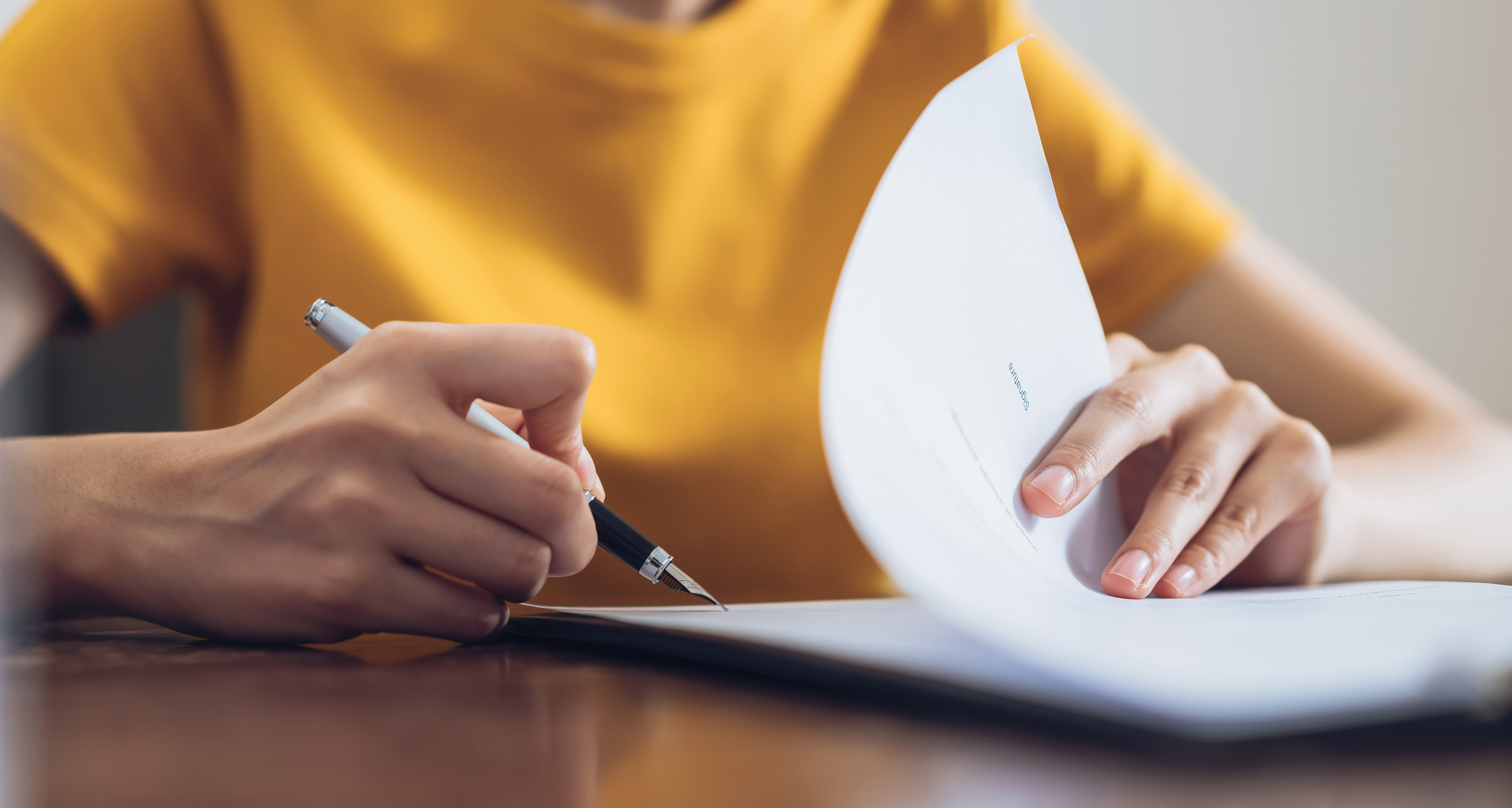 Kaufvertrag Immobilie unterschreiben