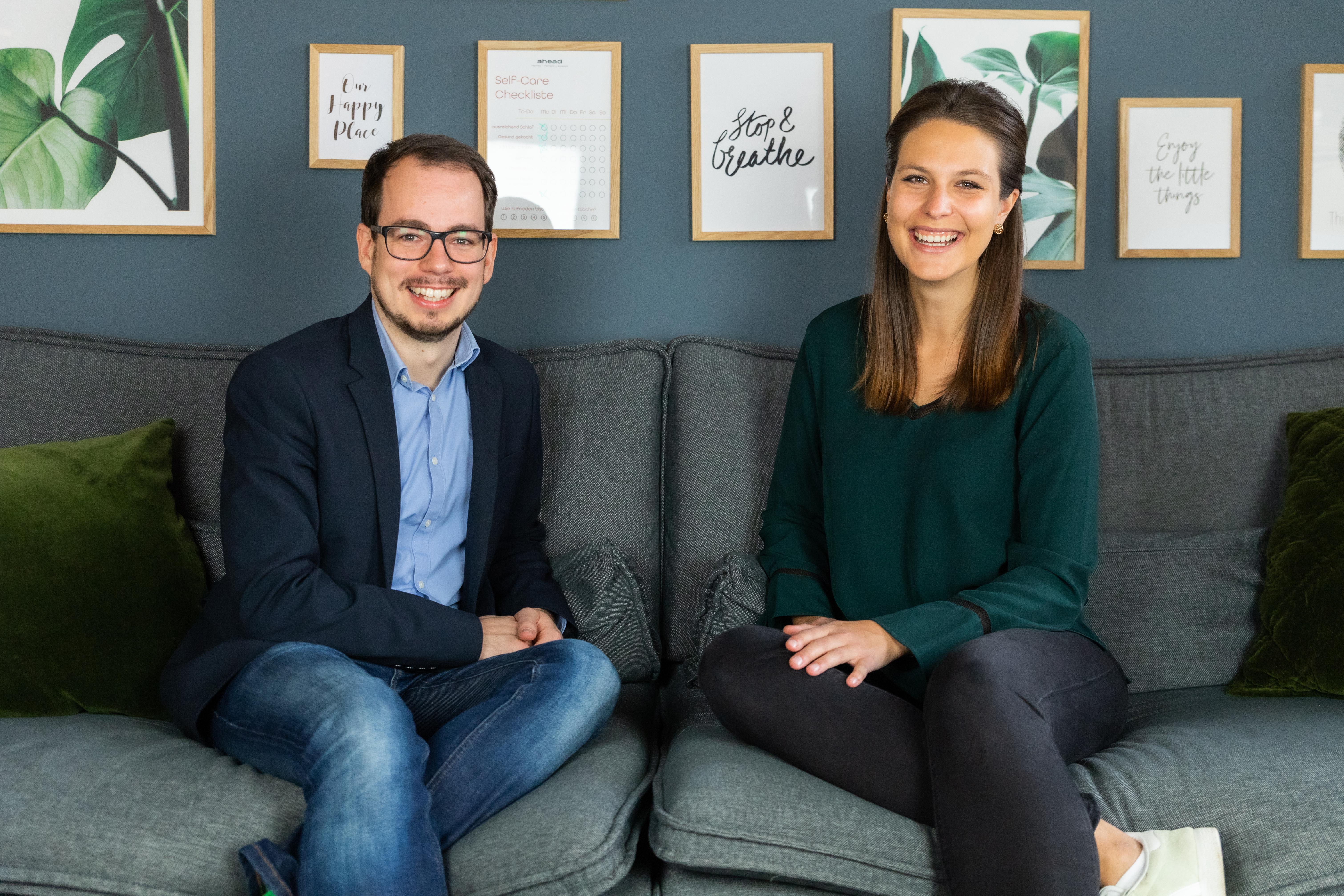 Die Gründer des Senior-Living-Anbieters lively: Constantin Rehberg und Christina Kainz
