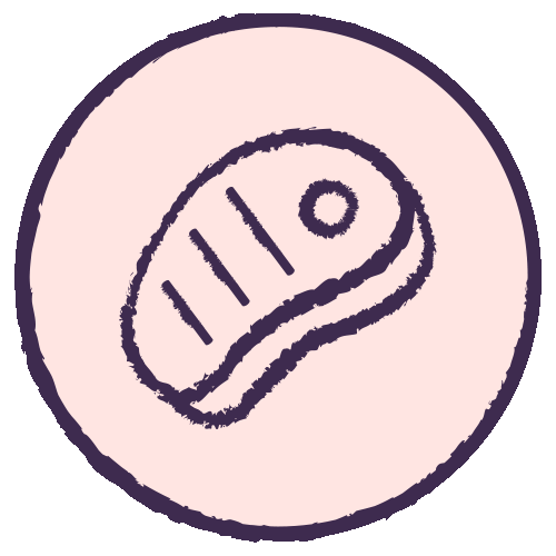 Meat protein icon