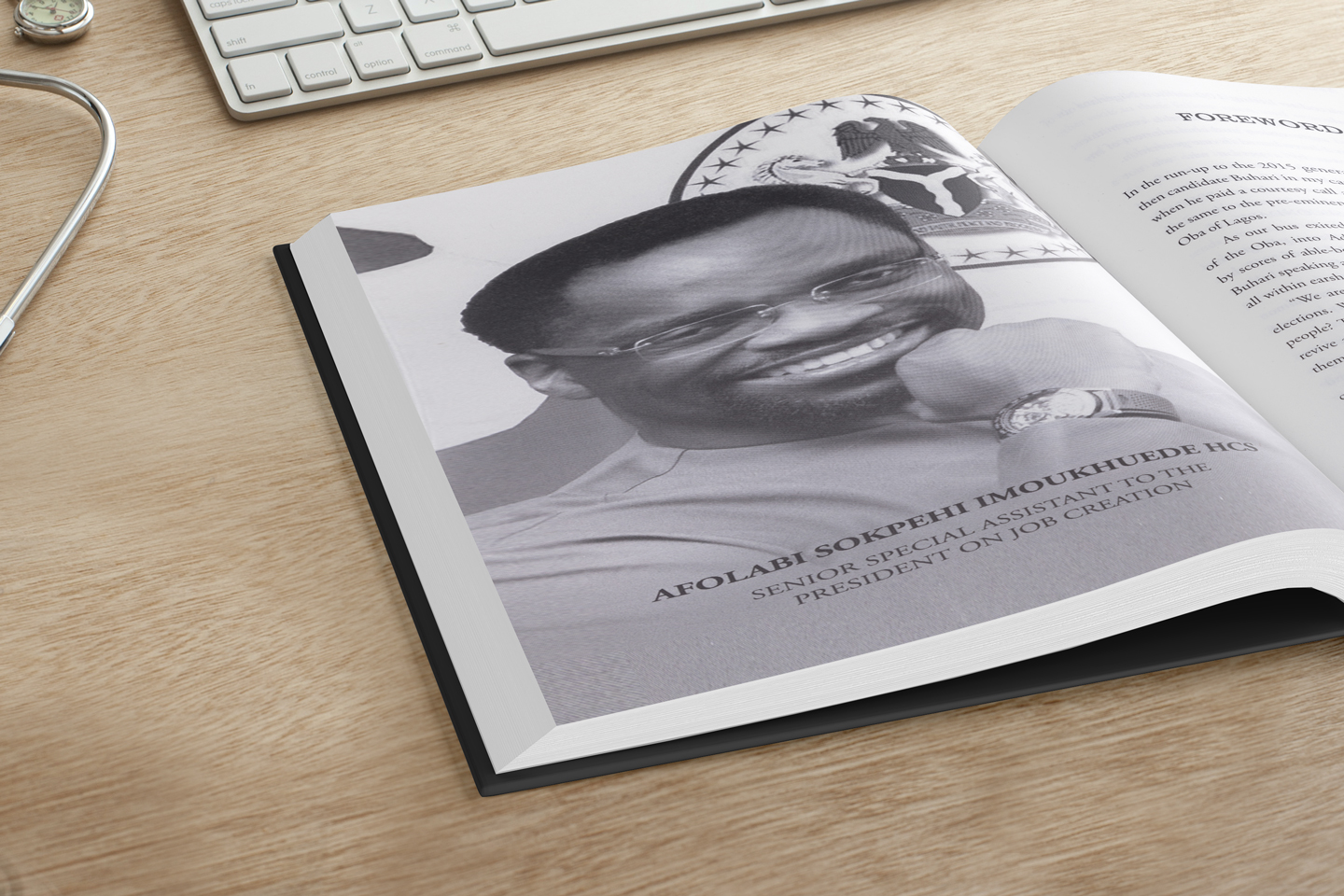Never an Afterthought by Afolabi Sokpehi Imoukhuede book inset spread.