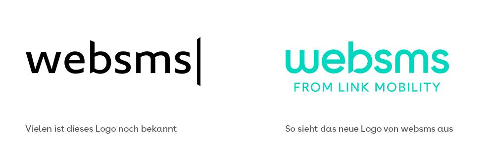 websms - Vergleich des alten und neuen Logos von websms