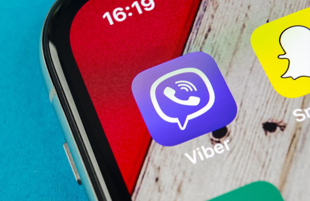 websms - Viber App am Smartphone installiert