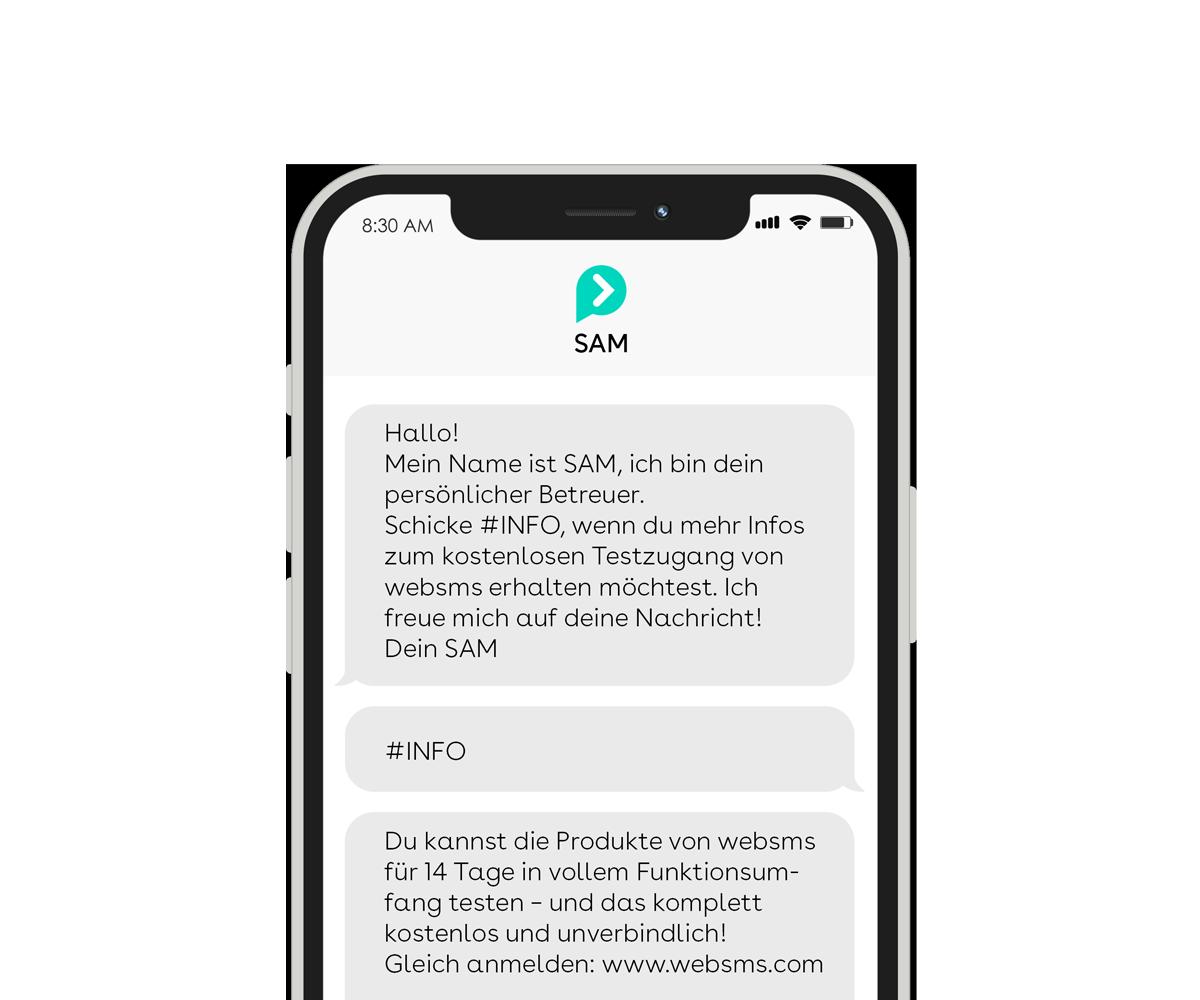 websms - Der websms Chatbot ermöglicht die automatisierte Kundenkommunikation über SMS und WhatsApp