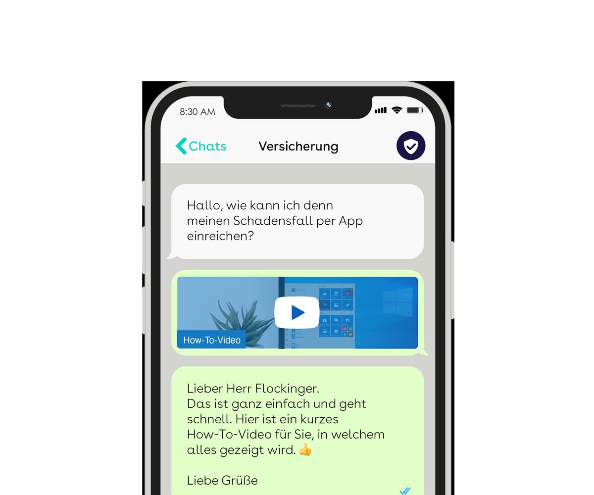 websms - Über WhatsApp lassen sich einfach multimediale Konversationen mit Ihren Kunden abbilden