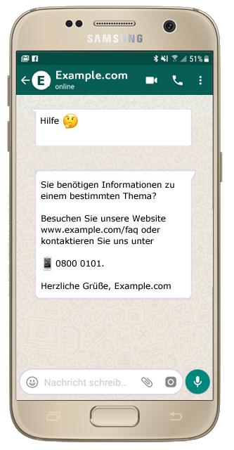 websms - WhatsApp in Verbindung mit ChatBot bietet automatisierten Kundenservice