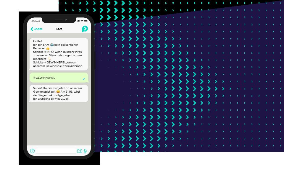 websms - Automatisierte Konversation mit einem Chatbot über WhatsApp