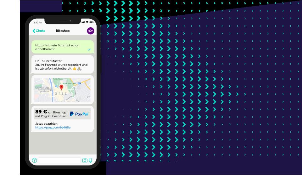 websms - WhatsApp Business ist der beliebteste Messenger der Welt ist der ideale Kanal für modernen und nutzerfreundlichen Kunden- und Pull-Service.