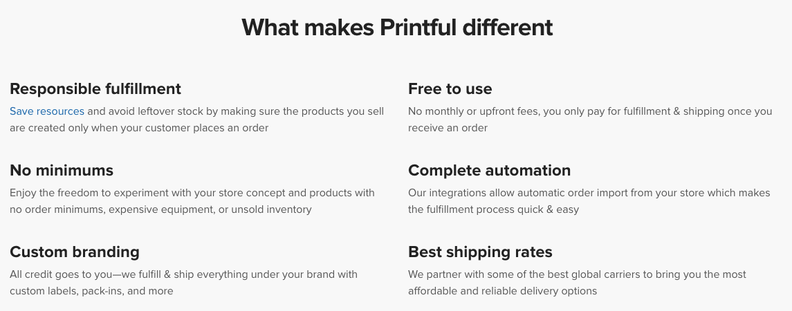 Printful's Features