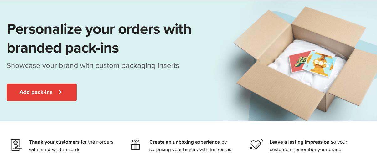 Printful's Custom Packaging