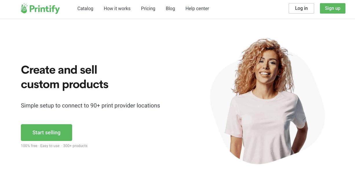 Printify home page