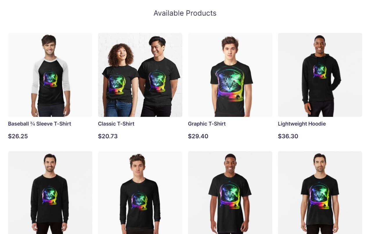 Redbubble Product Variations