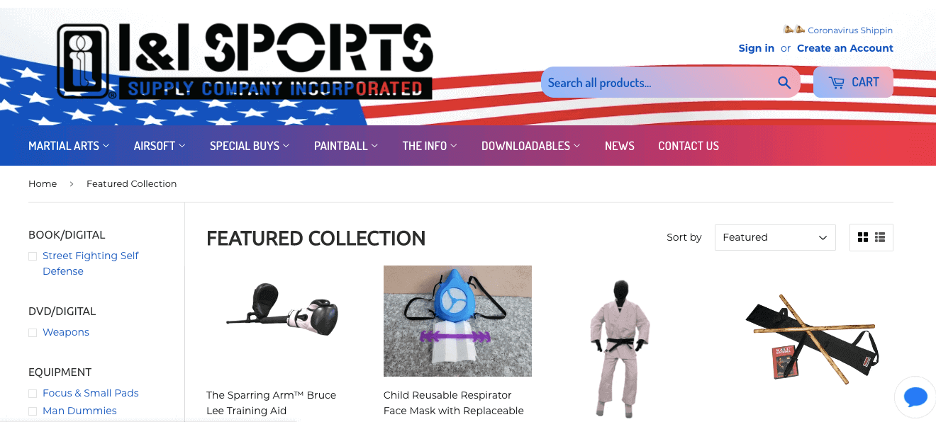 I & I Sports Supply Company featured collection