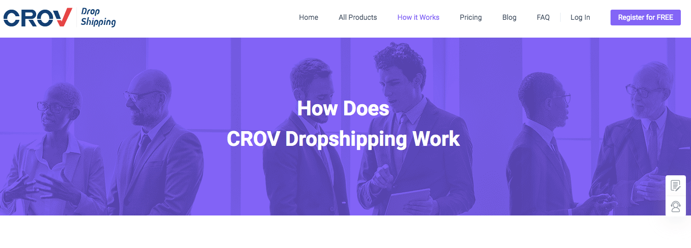 How does CROV Dropshipping work?