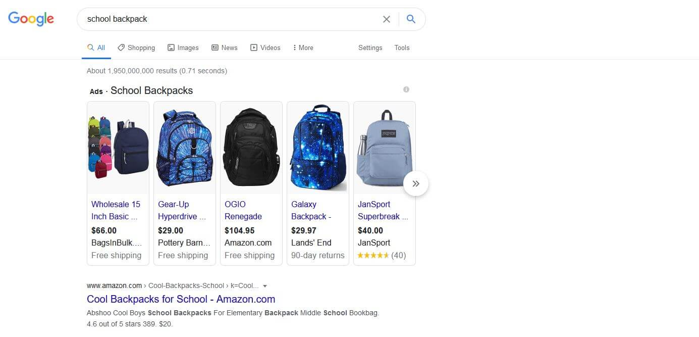 shopping ads for Google