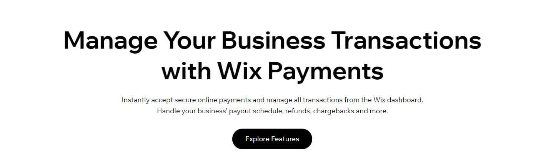 Wix Payments Details