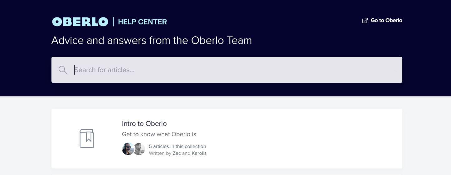 Oberlo Help Center