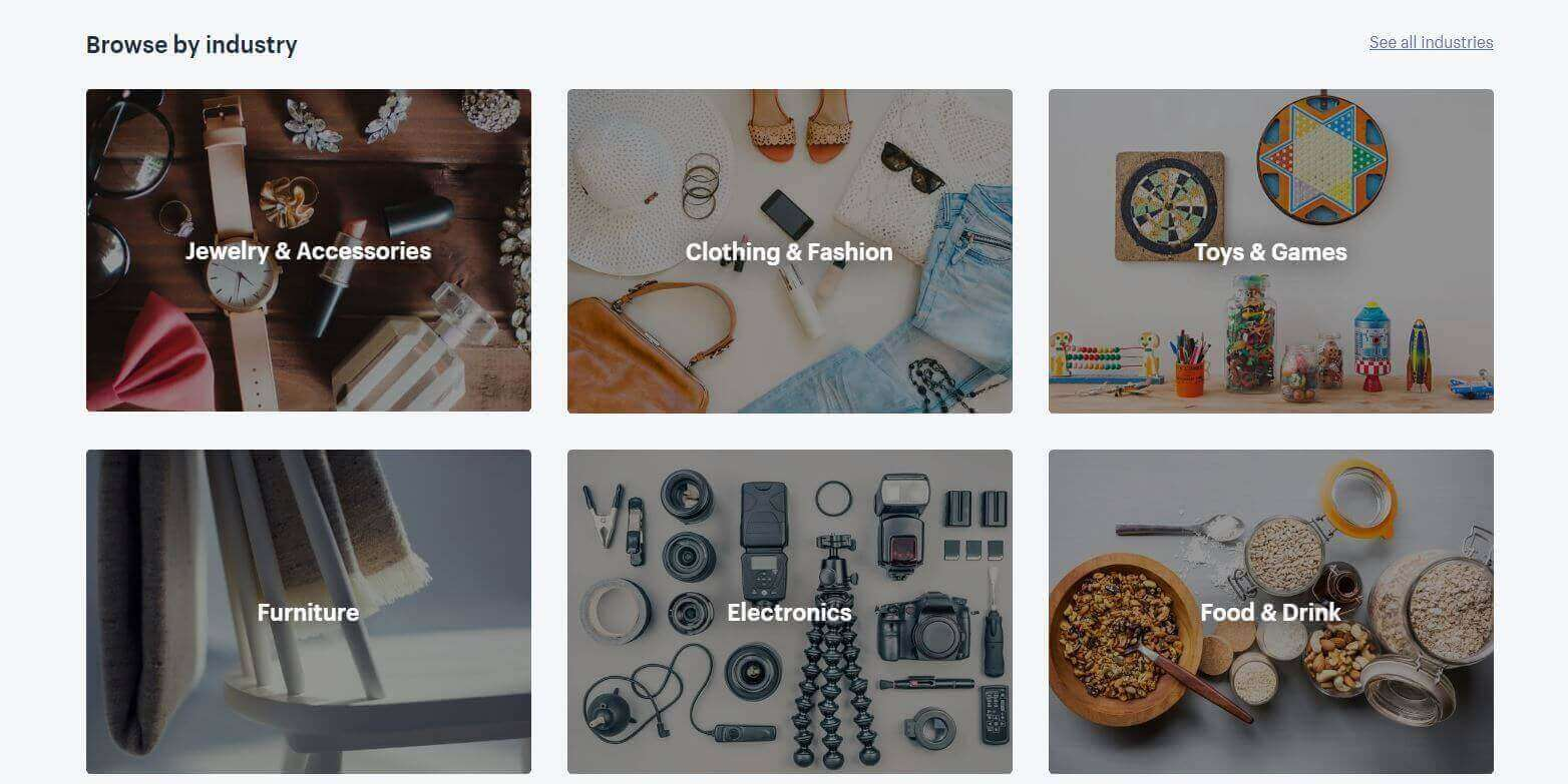 Shopify Theme Store Browse By Industry