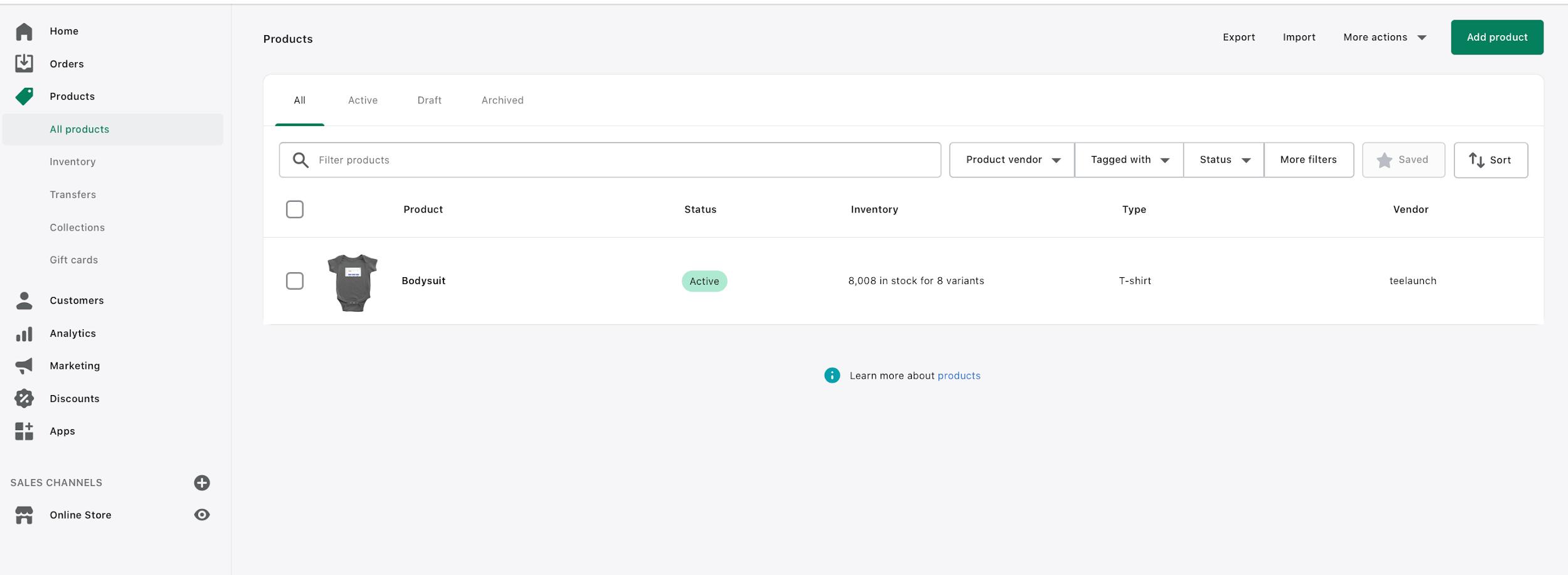 teelaunch product tab