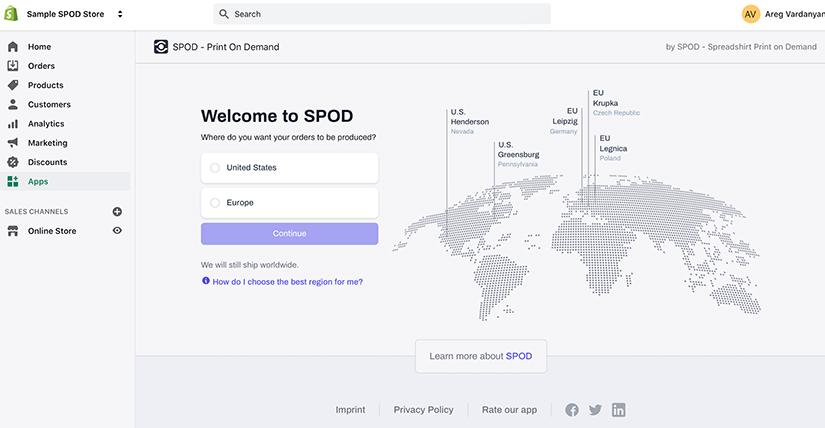 SPOD shopify app