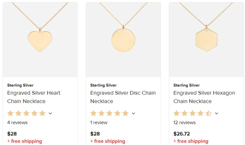 Printful's Engraving Only Necklaces