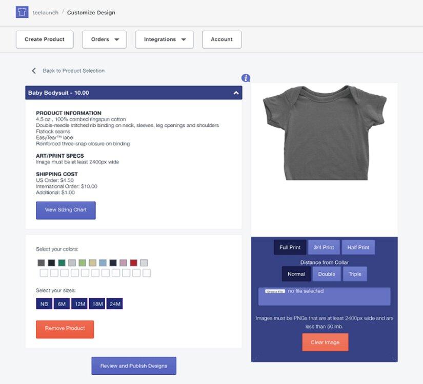 teelaunch customize design