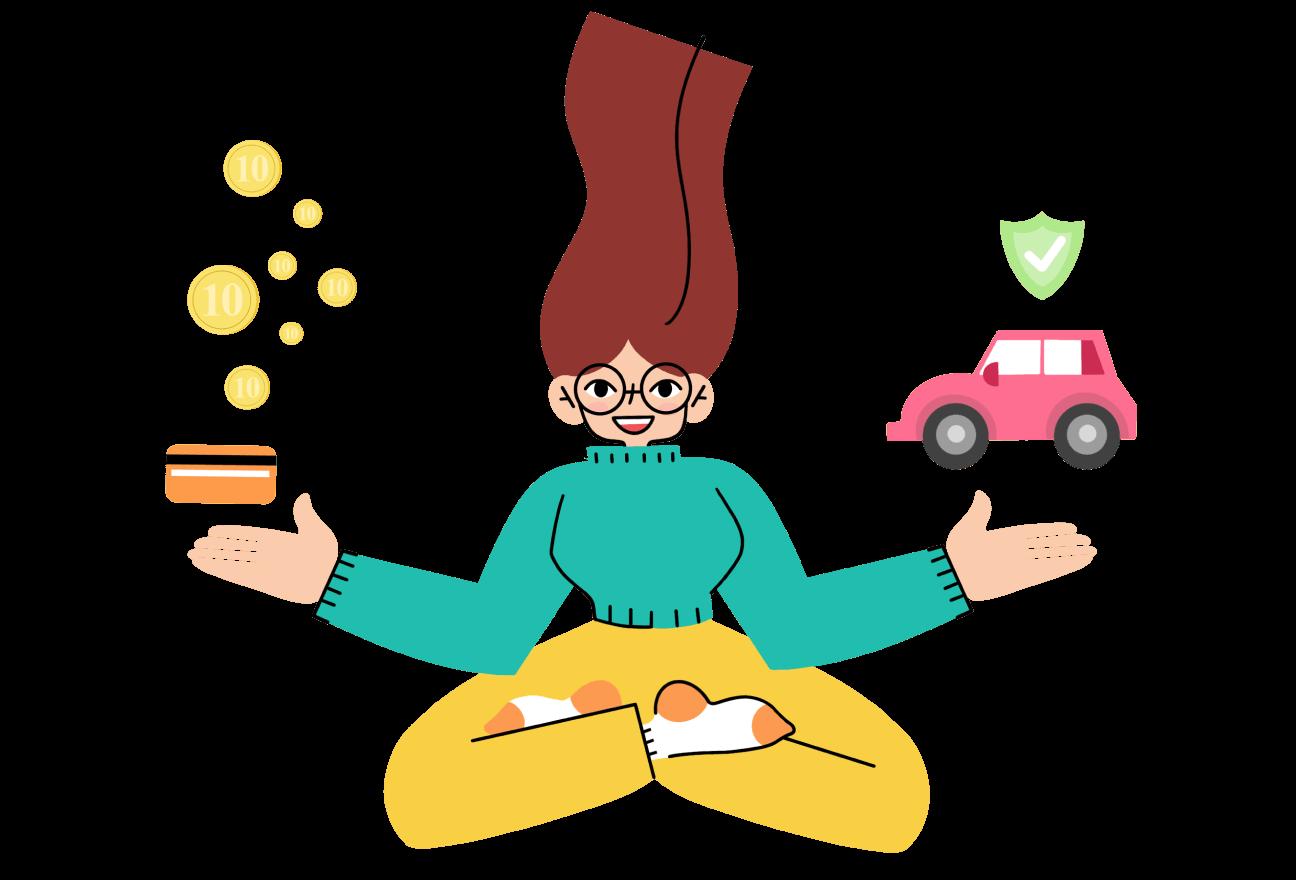 Mindi finanšu asistente - aprošināšana un kredīti